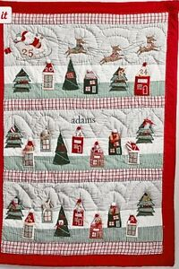 Pottery Barn Kids Quilted ADVENT COUNTDOWN CALENDAR NORTH POLE Christmas NO NAME