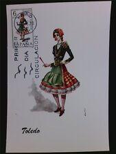 SPANIEN MK 1970 TRACHTEN TOLEDO COSTUMES MAXIMUMKARTE MAXIMUM CARD MC CM c5577