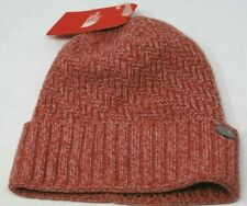 TNF The North Face Reyka Beanie Skull Cap Hat Faux Fur Lined Rose Heather NEW