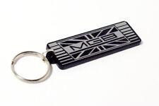 MG MGB GT LE Keyring - Brushed Chrome Effect Classic Car Keytag / Keyfob