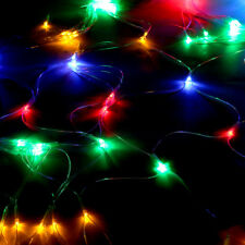 210led Fairy String Net Curtain Mesh LED Xmas Party Ceiling Lights Outdoor Lamps Colorful