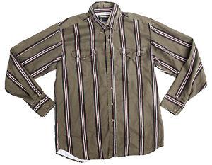 90s Vintage PANHANDLE SLIM Mens Large Long Sleeve Shirt Striped