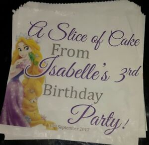 Personalised Disney Tangled / Rapunzel White Cake / Party Bags