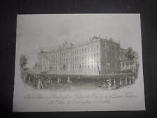 1850 LINE ENGRAVING LONDON FRONT VIEW OF BUCKINGHAM PALACE AUTHOR: J.T.WOOD