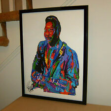 Muddy Waters Singer Guitar Delta Blues Music Poster Print Wall Art 18x24