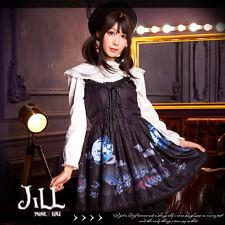 Lolita halloween princess diary Midnight full moon spaghetti sundress【JBH2077】