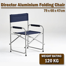 DIRECTORS FOLDING CAMPING FISH DIRECTOR BEACH OUTDOOR PICNIC FOLDABLE CHAIR NAVY