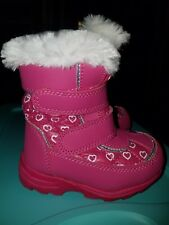 Falls Creek Toddler Winter Snow Boots thinsulate pink Size 5,6,7,8 very cute!!