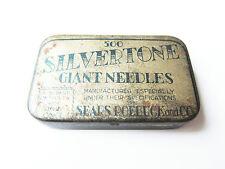 Grammophon NADELDOSE SILVERTONE GIANT gramophone needle tin
