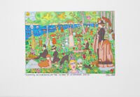 James Rizzi Sunday Afternoon On The Island Lithographie Kunstdruck Bild 26x37cm