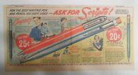 Scripto Pens & Pencils Ad: Ask For Scripto ! from 1940's Size: 7 x 15 in