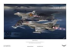 809 Naval Air Squadron Lockheed/Martin F35-B Lightning Digital Art PRINT
