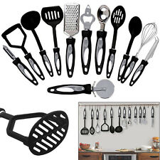 12 Pieces Stainless Steel Cooking Utensils Set Kitchen Gadget Tool Nylon Handles
