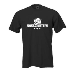 Koks & Nutten skull -- schwarzes Funshirt, lustige Sprüche, große Größen (BL046)