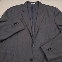 Peter Millar Mens Sport Coat Suit Separate Jacket Size 50R Solid Gray