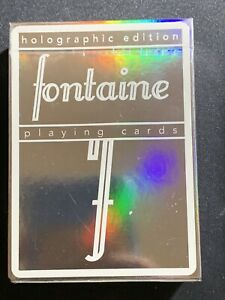Holographic Fontaine Playing Cards.