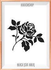 Fiore ROSA MYLAR riutilizzabile Stencil Aerografo Pittura Arte Craft fai da te Home Decor