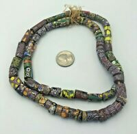 Mixes VINTAGE African Trade Glass Beads Old Antique Natural Round Necklace