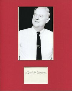 Lloyd Conover Tetracycline Inventor Hall Of Fame Signed Autograph Photo Display