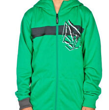 Volcom Mustard Long Hooded Hoody (L) Green