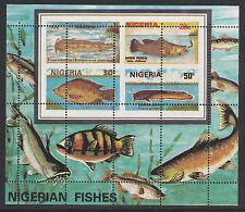 Nigeria (287) 1991 PESCI M/foglio sbagliato PERF Pattern unmounted Nuovo di zecca
