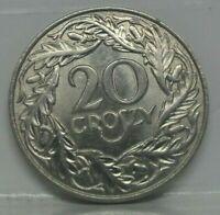 KM# 12 - 20 groszy 1923 - SPL+ - monnaie Pologne - N1839