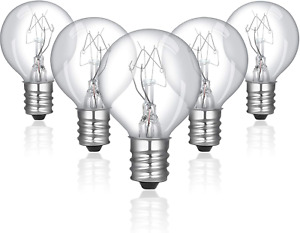 12 Pieces 20 Watt Bulbs Wax Warmer Bulbs Incandescent Clear Light Bulbs G30 with