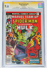 MARVEL TEAM-UP #53 CGC 9.6 SS Signed by STAN LEE! SPIDER-MAN, HULK, WHITE PAGES!