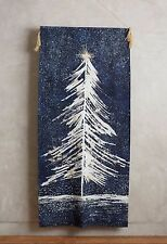 Anthropologie Shimmering Spruce Tapestry Wall Hanging Christmas Holiday Tree