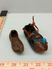 Various Miniature Leather Slippers - Lot of 2