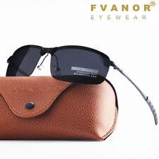 HD Polarized Sunglasses Men's Rimless Driving Pilot Glasses UV400 Sports Eyewear