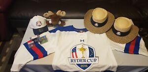 Lot of 2016 Ryder Cup Memorabilia (Golf) Davis Love III / Darren Clarke