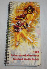 1987 Minnesota Gophers Football Media Guide | Dennis Carter Reggie Brown