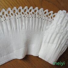5 yards 2-layer Elastic Pleated Organza Lace Trim Gathered Chiffon Ribbon White