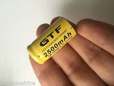1 PILE ACCU RECHARGEABLE CR123A 16340 3.7V 2500Mah GTF Li-ion BATTERIE - HOT