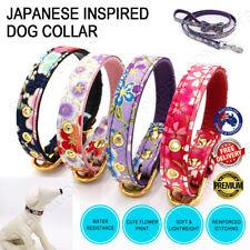 Japanese Inspired Style Cute Pet Dog Cat Puppy Soft Flower Microfiber Collar Set