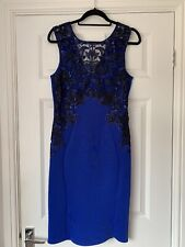 Lipsy Dress Size 14 Royal Blue Evening Wedding Christening Party