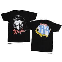 WAYLON JENNINGS T-Shirt Draw 84 USA Tour Sketch Drawing New Authentic S-3XL