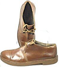 Clarks Bushacre Trek Oxford Men 12M Brown Leather Beeswax Sole Desert Shoe 63265