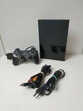 Playstation 2 - SCPH-90004 - Konsole Slim in schwarz mit Kabel und Controller.