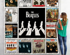 The Beatles Quilt Blanket For Fans, Gift For Best Friend, Gift For Daughter, Gif