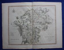 Original large antique county map, WESTMORELAND, engraved by John Cary, 1805
