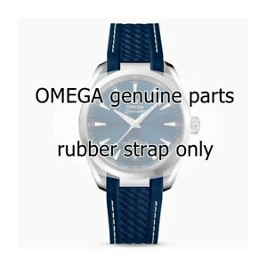 Omega Watch Strap Rubber Blue 19/16 Seamaster Aqua Terra 150MT 1 1/2in