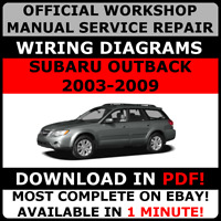 # OFFICIAL WORKSHOP Service Repair MANUAL SUBARU OUTBACK 2003-2009 + WIRING