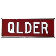 Novelty Number Plate - Qlder White On Maroon AUS Licence Plate Sign Wall Art Hom