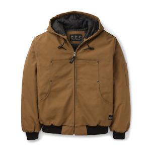 Filson CCF Hooded Utility Jacket Sepia