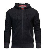 Superdry Mens New Orange Label Classic Long Sleeve Full Zip Hoody Charcoal Marl
