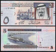 SAUDI ARABIA 5 RIYALS 2007 P32 UNCIRCULATED