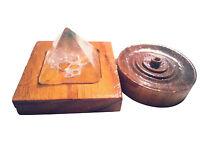 Räucherstäbchen Halter Incense Burner mit Bergkristall Pyramide