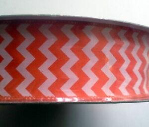 Berwick & Offray Wired Edge Ribbon, 2 inch  x 36 yd,  Zig Zag Orange - NEW